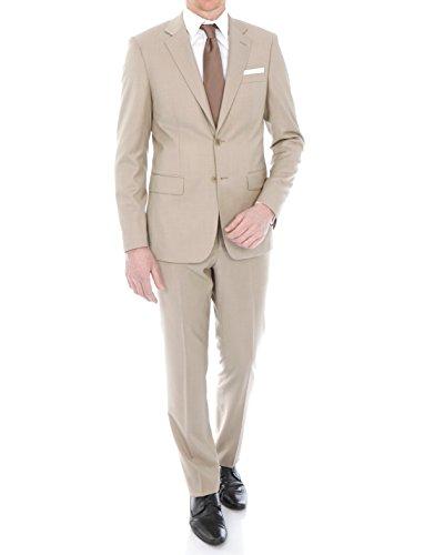 Costume Beige cintré et fuselé en Pure Laine Super 150's