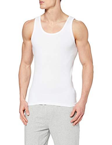 ABANDERADO Camiseta de Tirantes de algodón canalé, Blanco, XL para Hombre