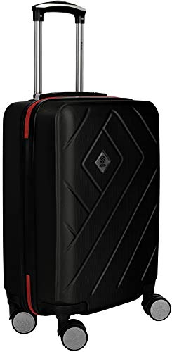 Trolley rigido di ottima qualità con rotelle pivotanti - Maniglie Soft-Touch per un facile sollevamento S 55cm 43L 2.5kg - Approvato come bagaglio a mano per Ryanair, Easyjet, Wizz.