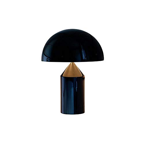 Oluce Atollo 238 Lampada da Tavolo 2x40W E14 Nero
