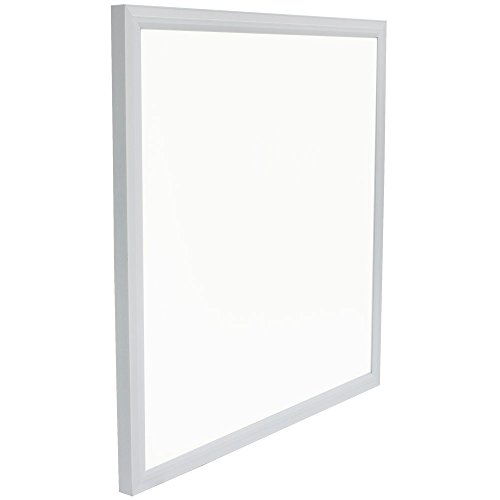 """Square LED Panel Recessed in Ceiling Tile Light or Ceiling or Thin Flush Mount Lighting in Laundry Garage Workshop Office   DLC Certified Bright Downlight(24"""" x 24"""")"""