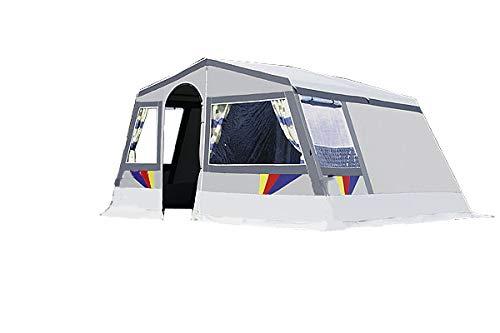 dwt Camping Zelt Hacienda grau Tunnelzelt Camping Outdoor Familienzelt 4 Personen oder 5 Personen 2-3 Jahreszeiten großes Zelt Steilwandzelt freistehend