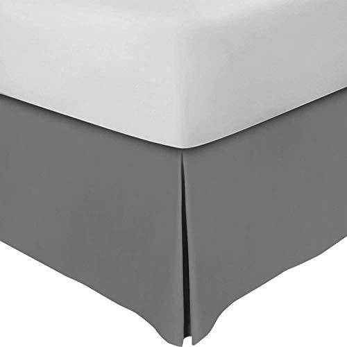 Utopia Bedding Cubre Canapé - Plisado - Encaja Debajo del Colchón y En el Suelo - Falda De La Cama (Gris, 90 x 190 cm) - Tamaño no para ES
