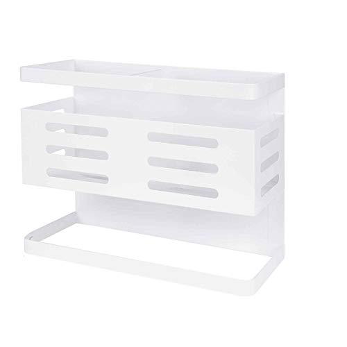 Organizador para colgar en el refrigerador, Especiero magnético, Estante de cocina Soporte para toallas de papel de almacenamiento Estante de almacenamiento para lavadora multicapa multifunción-A