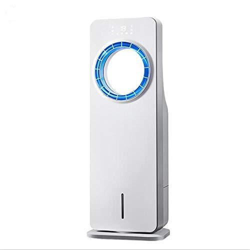 JINBAO Bladeless Fan, Dual Water Tank, Portable Air Conditioning Cooler, Humidized Fan, Exhaust Fan, Mobile Water-Cooled Air Conditioner, for Home, Office