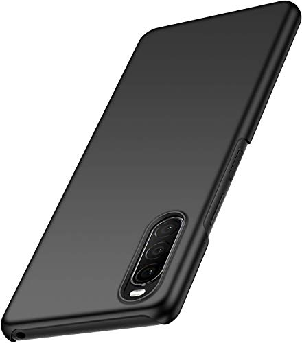 Toppix Case for Sony Xperia 10 II, Hard PC Backcover [Anti-Scratch] [Ultra-Light] Slim Shell Protective Cover for Sony Xperia 10 II (Black)