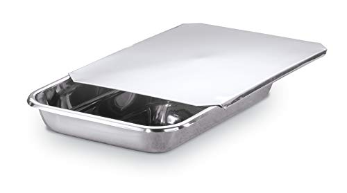 Hammer Stahl 9x13 Inch Baking Pan with Cover - Heavy Gauge 18/10 Stainless Steel - Great for Roasting, Cakes and More