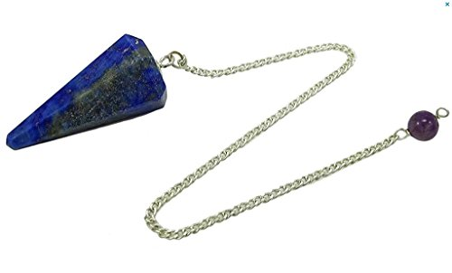 Péndulo Cono de piedra Natural para Adivinación, radiestesia, Curación y videncia (lazulita)