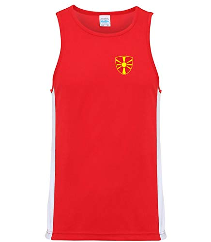 Nation Mazedonien Trikot Tank Top Athletic Training ATH BR-R (XXL)