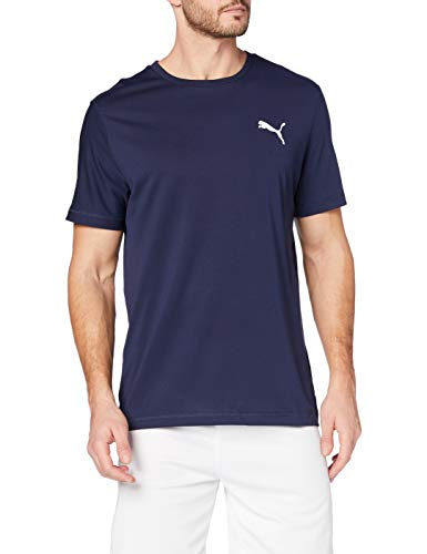 Puma Active Tee T-Shirt Homme, Bleu (Peacoat), FR : M (Taille Fabricant : M)
