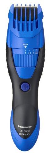 Panasonic ER-GB40-A511 - Cortapelos en seco y húmedo, lavable, cuchilla con ángulo de 45º, azul oscuro