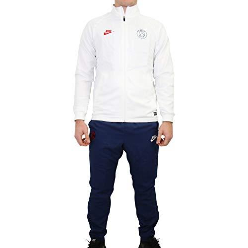 Nike Herren PSG MNK Dry Strk TRK Suit W CL Tracksuit, White/Midnight Navy/University red, L