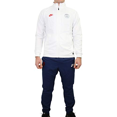 Nike Herren PSG MNK Dry Strk TRK Suit W CL Tracksuit, White/Midnight Navy/University red, L
