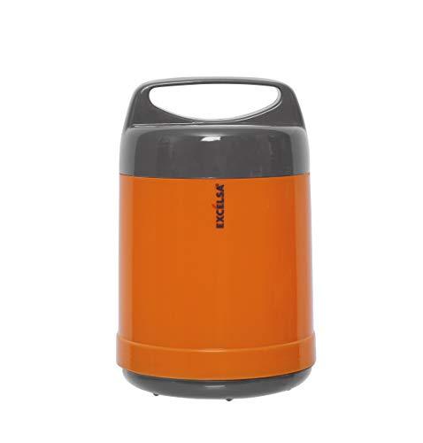 Excelsa Boîte à Repas, Plastique, Orange/Gris 1.20 Litri Arancio/Grigio