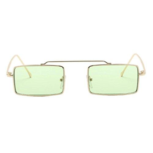 Zolimx Occhiali Da Sole Donna, Moda Estate Occhiali Da Sole, Moda Unisex Square Frame Occhiali Da Sole Integrato Occhiali UV (Verde)