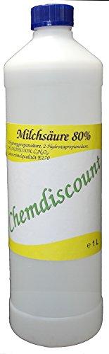 1 Liter (ca. 1,25 kg) Milchsäure 80%, Lebensmittelqualiät E270