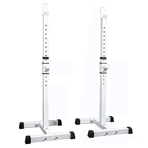 HT&PJ Squat Rack Multifunktionale Haushalt Squat Bracket Split Squat Equipment Fitness Equipment Hantel Set (Weiß)