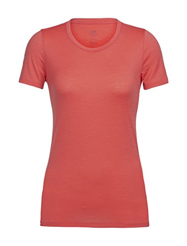 Icebreaker WMNS Tech Lite SS Low Crewe Tshirt Femme, Poppy Red, FR (Taille Fabricant : XS)