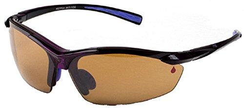 Naute Sport Air-Top Anti-Fog Purple Frame Amber Lens Sunglasses 68mm