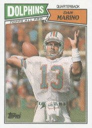 1987 Topps Dan Marino Football Card #233 - Shipped In Protective Display Case!