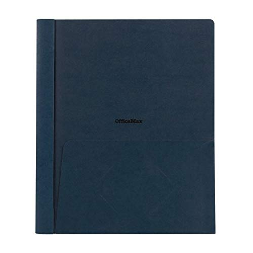 """Office Depot Brand Clear-Front Report Covers, 8 1/2"""" x 11"""", 1/2"""" Capacity, Navy, Pack of 25"""