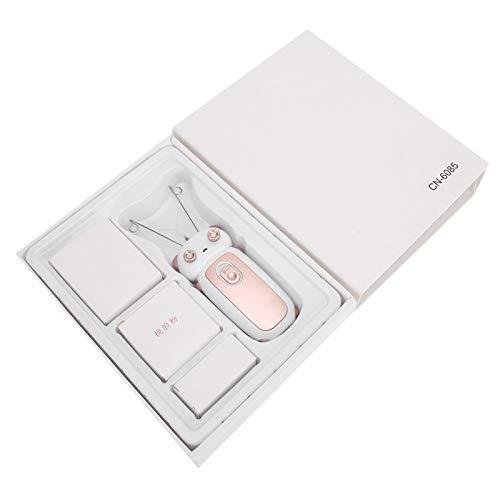 Depiladora eléctrica de hilo de algodón Máquina de depilación facial Afeitadora facial para el cuerpo del hogar(Oro rosa)