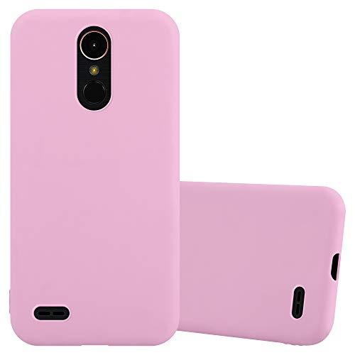 Cadorabo Funda para LG K10 2017 en Candy Rosa - Cubierta Proteccíon de Silicona TPU Delgada e Flexible con Antichoque - Gel Case Cover Carcasa Ligera