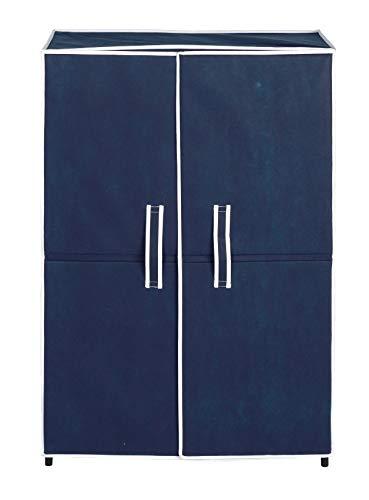 Wenko 2045527 Armoire à Chaussures pour 16 Paires Motif Air Bleu/Noir
