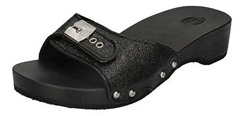 Scholl - Pantoletten VANDANA 792340-50-8 Noir metallic, Größe:38 EU