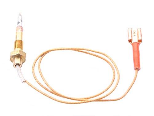 Bartscher Thermoelement für Gasherd für große Brenner mit Kabelverbindung Länge 450mm Anschluss F 7,7mm mit 1 Leiter M6x0,75
