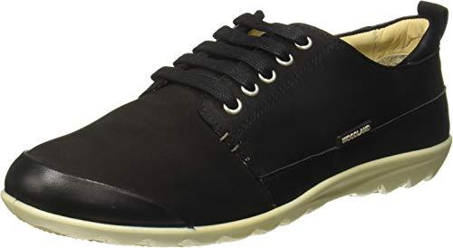 Woodland Women's Ls 2396117black4 Black Leather Moccasins-4 UK (37 EU) (5 US) (LS 2396117)