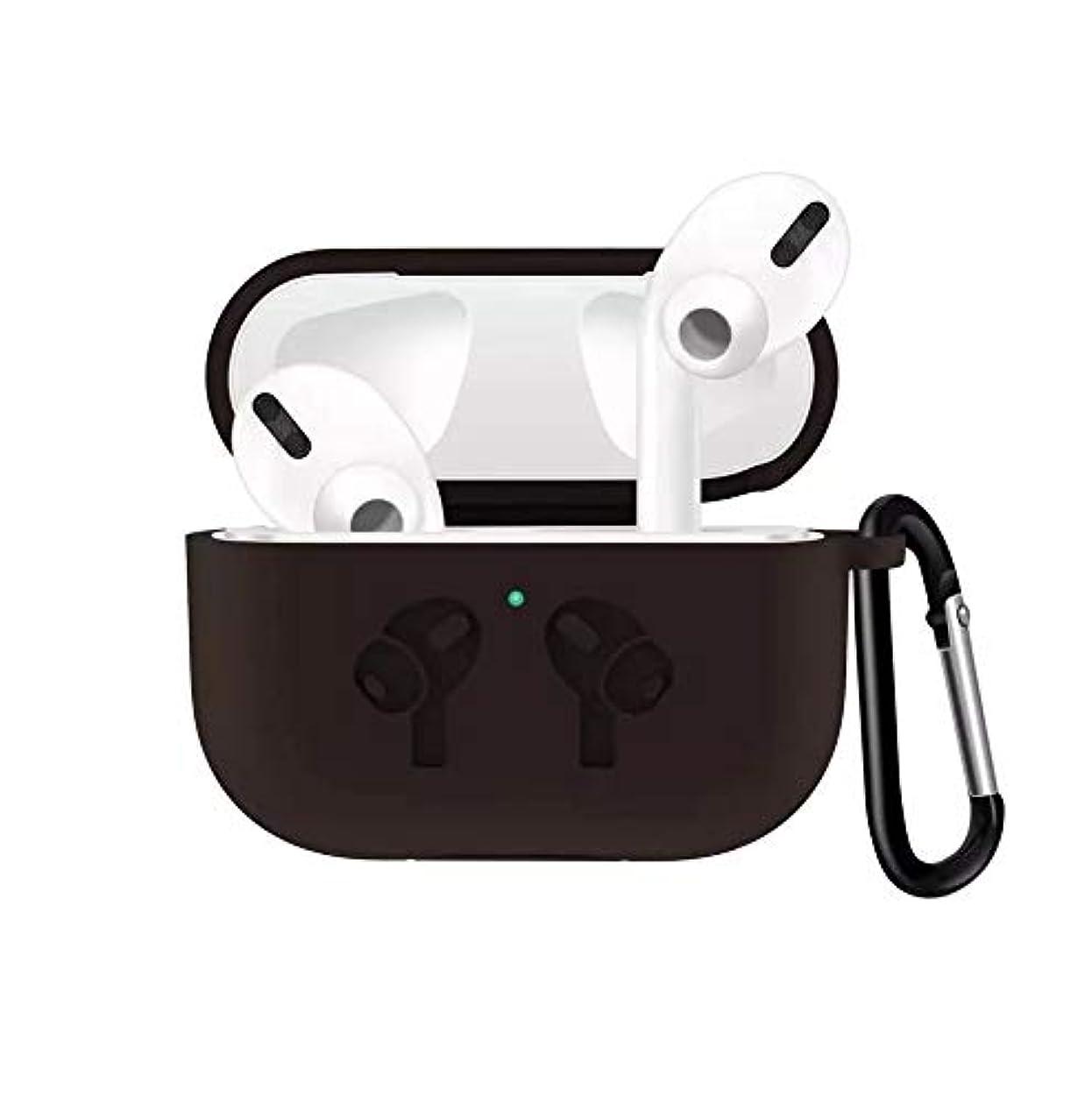 任命するなしで異なるMinnoShop AirPods Pro対応ケース フック付き 高品質シリコン ソフト 耐衝撃 防塵 ワイヤレス充電 AirPods Pro 用