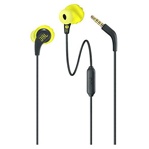 JBL JBLENDURRUNBNL Endurance Run - Schweißresistenter In-Ear-Sport-Kopfhörer mit Kabel Schwarz/Limette