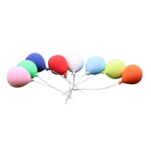 FiedFikt Mini-Luftballons 1:12 Puppenhaus, Miniatur-Szene, Möbel, Puppenhaus, Zubehör, Spielzeug, kreative Heimdekoration, Handarbeit, Geschenke für Kinder, Freunde