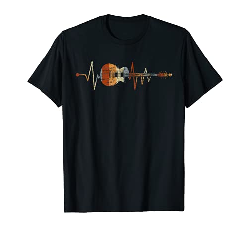 Guitarrista De Latidos Del Corazón Guitarra Camiseta