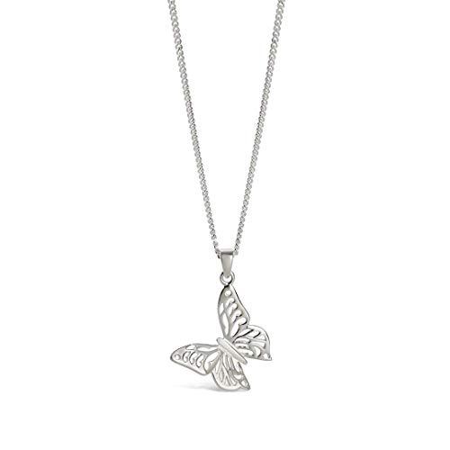 Lily Blanche - Colgante de plata de ley 925 con diseño de mariposa
