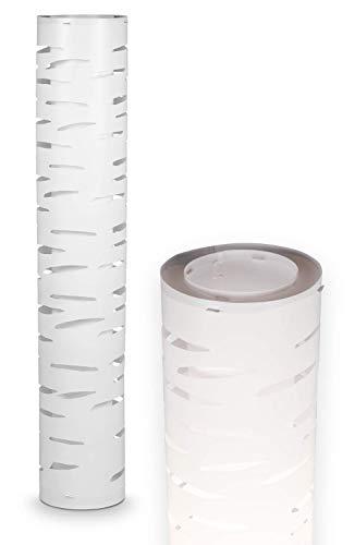 NÄVE Kunststoff Stehlampe White Line - Stehleuchte 110 x 20 cm mit 2x E27 Fassung 40W - Standleuchte modern in weiß ideal für Wohnzimmer & Schlafzimmer - Wohnzimmerlampe, Standlampe, Leselampe