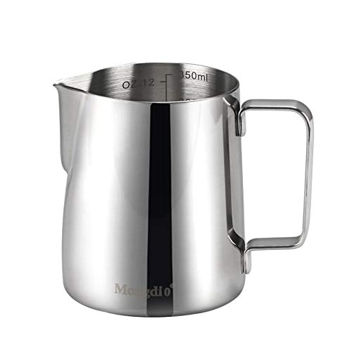 Coffee Milk Frothing Pitcher Cup 350ml(12oz)Steaming Pitchers Stainless Steel Milk coffee Cappuccino Latte 12oz
