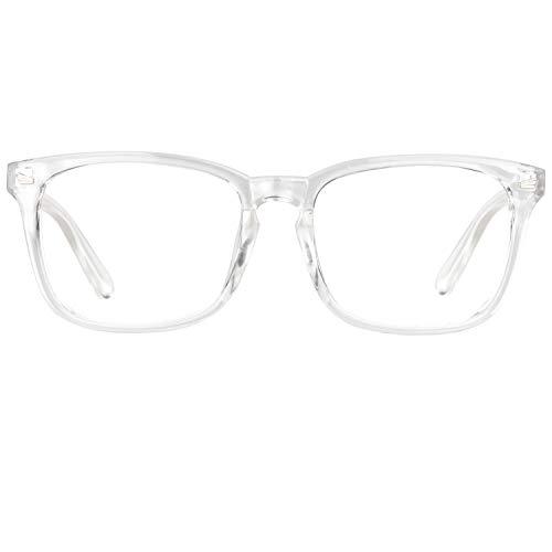 GQUEEN Fashion Glasses Non Prescription Fake Glasses for Women Men Clear Lens Square Transparent, 201582