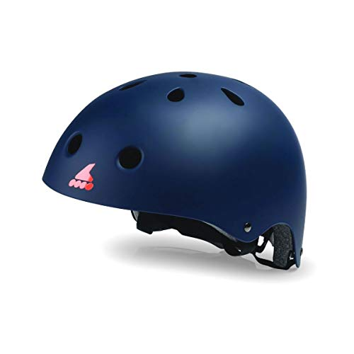 ROLLERBLADE(ローラーブレード) インライン ジュニア ヘルメット RB JR HELMET ミッドナイトブルー×オレンジ 子供用 060H0110847 ROLLERBLADE 【C1】 M(54-58cm)