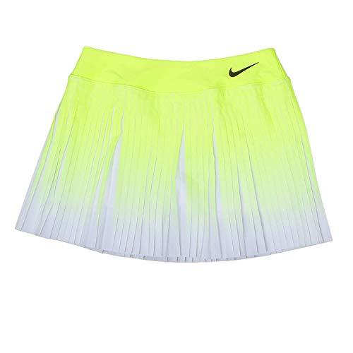 NIKE W Nk FLX Vctry Skirt Premier Falda, Mujer, Amarillo (Volt/Negro), L