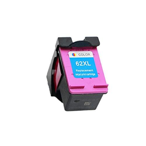 Accesorios de Impresora Cartucho de Tinta 62XL Compatible para HP 62 XL Hp62 Apto para HP Envy 5540 5640 7640 5646 5541 5740 5742 5745200250 Impresora. (Color : 62XL Color)