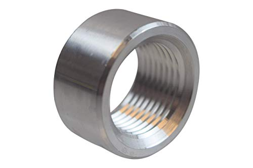 ICT Billet Aluminum -12AN Weld On Bung Female Nut Threaded 12 AN Insert Weldable AN871-12A