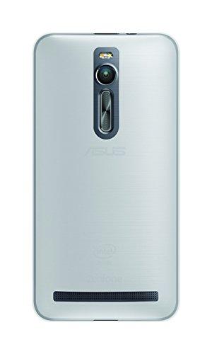 Phonix ASZF2GPW Gel Protection Plus Schutzhülle mit Bildschirmschutzfolie für Asus Zen Fone 2 (5,5 Zoll, ZE551ML) transparentes weiß