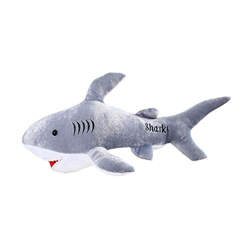 WZNING Great White Shark Plush speelgoed aquarium Pluche Dolls bankhoofdkussen Shark Soft Gevulde Doll knuffeldier Ragdoll for jongens en meisjes verjaardag Holiday Gift (Size : 90cm)