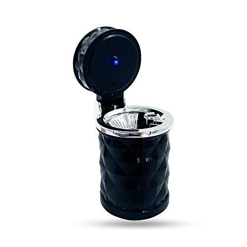 CxS - Posacenere per auto, portatile, piccolo e pratico, con adattatore per condizionatore