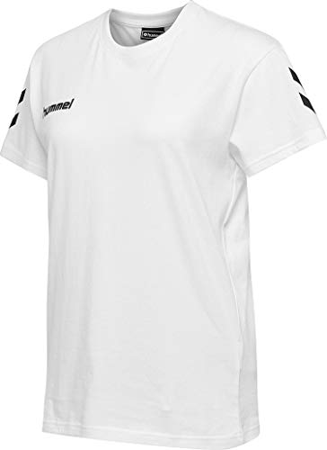 hummel Camiseta de algodón Hmlgo para Mujer, Mujer, Camisetas, 203440-9001, Blanco, Small