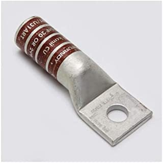 BURNDY HYLUG YA 1-Hole Non-Insulated Compression Lug Without Inspection Window, 500 kcmil Copper Conductor, Copper