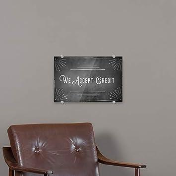 27x18 Chalk Corner Premium Brushed Aluminum Sign We Accept Credit CGSignLab