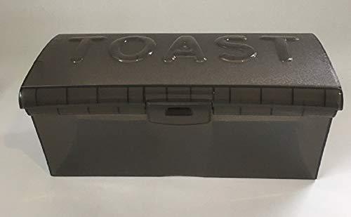 Toastbrotbox Brotkasten Brotdose Brotbox Brotkiste Kunststoff in der Farbe grau